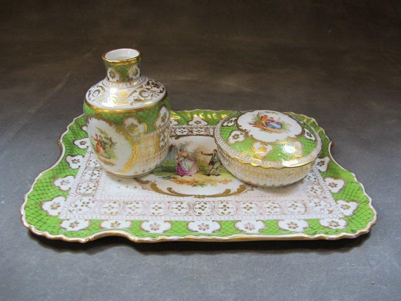 Old German Dresden porcelain set