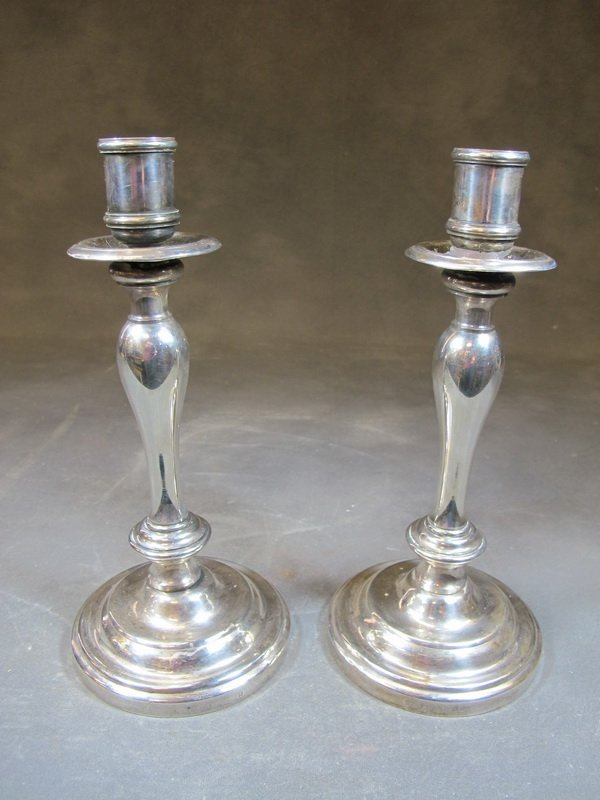 Antique pair of French Cristofle silverplate