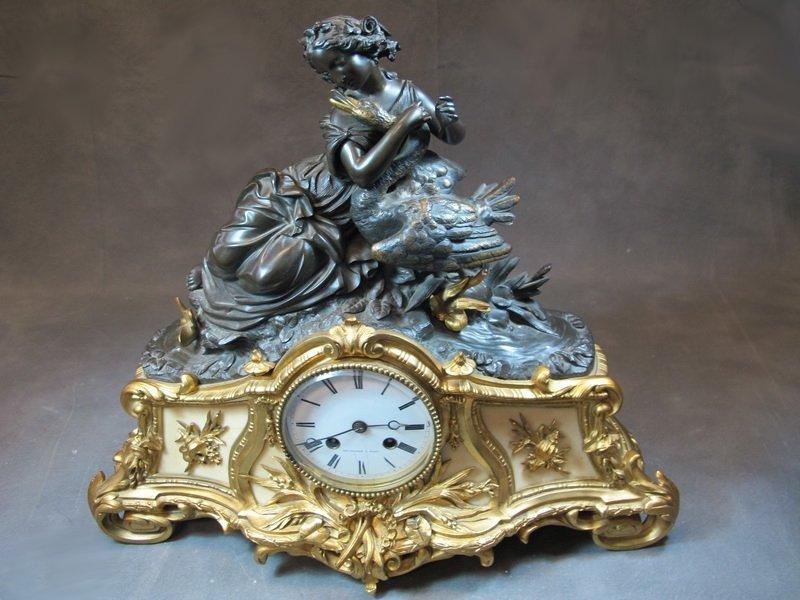 Antique 19th C clock, Delagarde, Paris