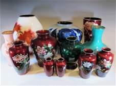 Antique set of Japanese Ando Jubei & Sato cloisonne