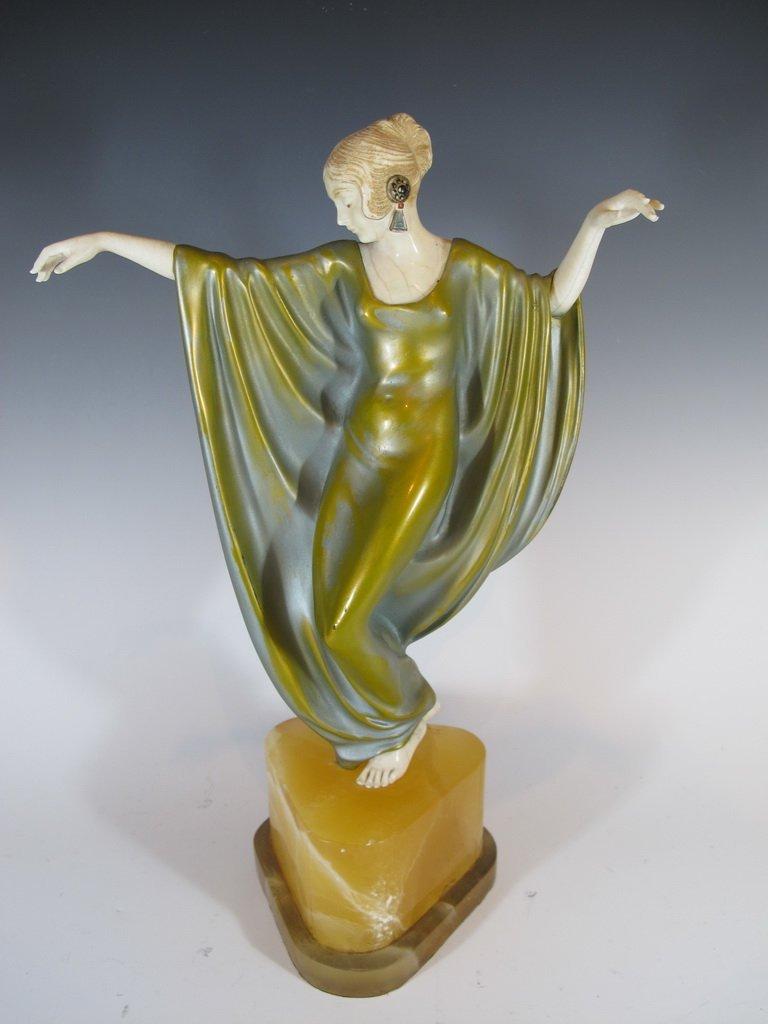 Philippe DEVRIEZ (act.1920-1992) bronze & ivory statue