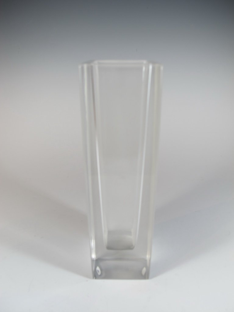 Vera Wang, Wedgwood glass vase, signed