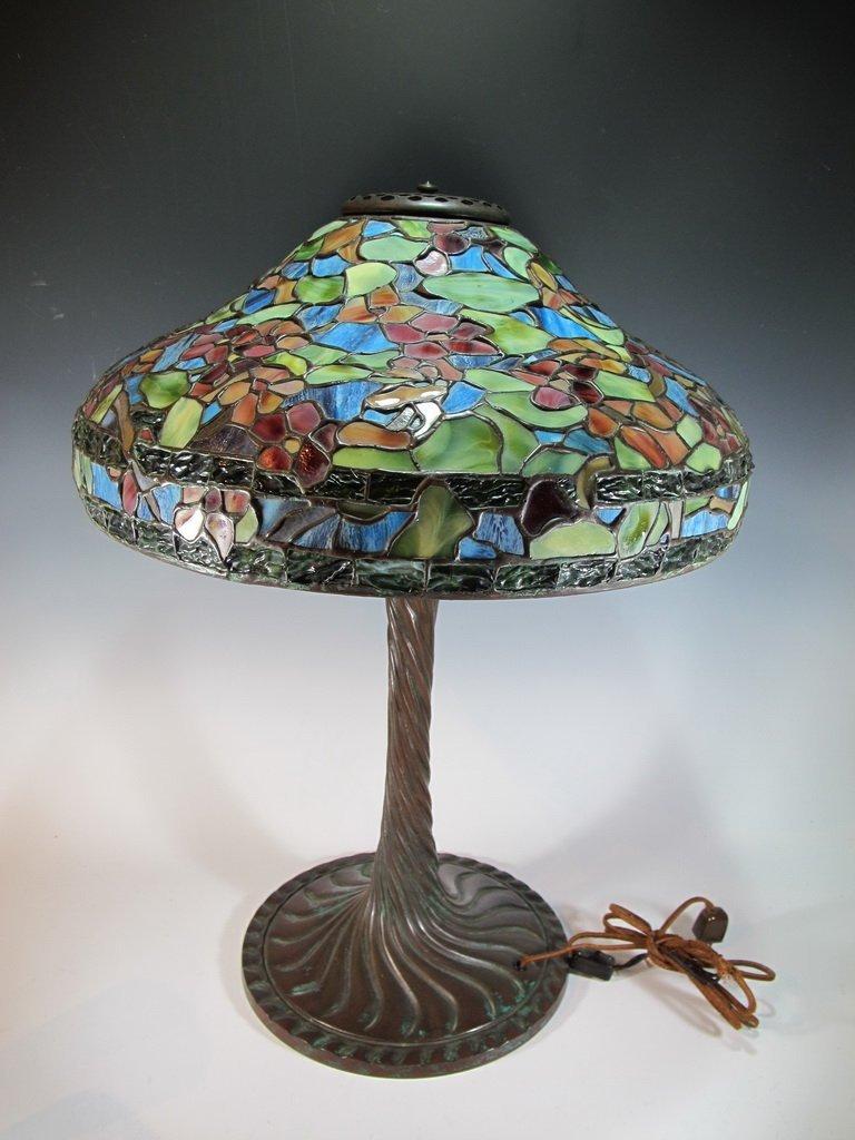 Art Glass Studio table lamp, signed