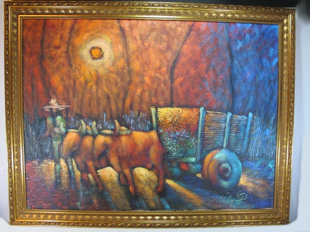 Jose Espinal, Dominican artist painting