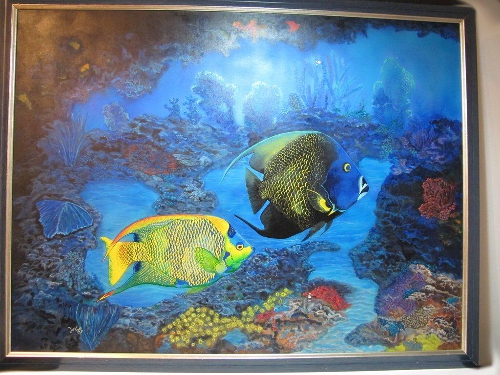 Jorge LOPEZ, Cuban artist fish painting