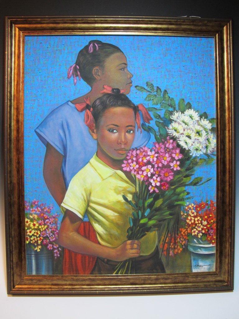 Jorge SALAS (1954) Cuban artist painting