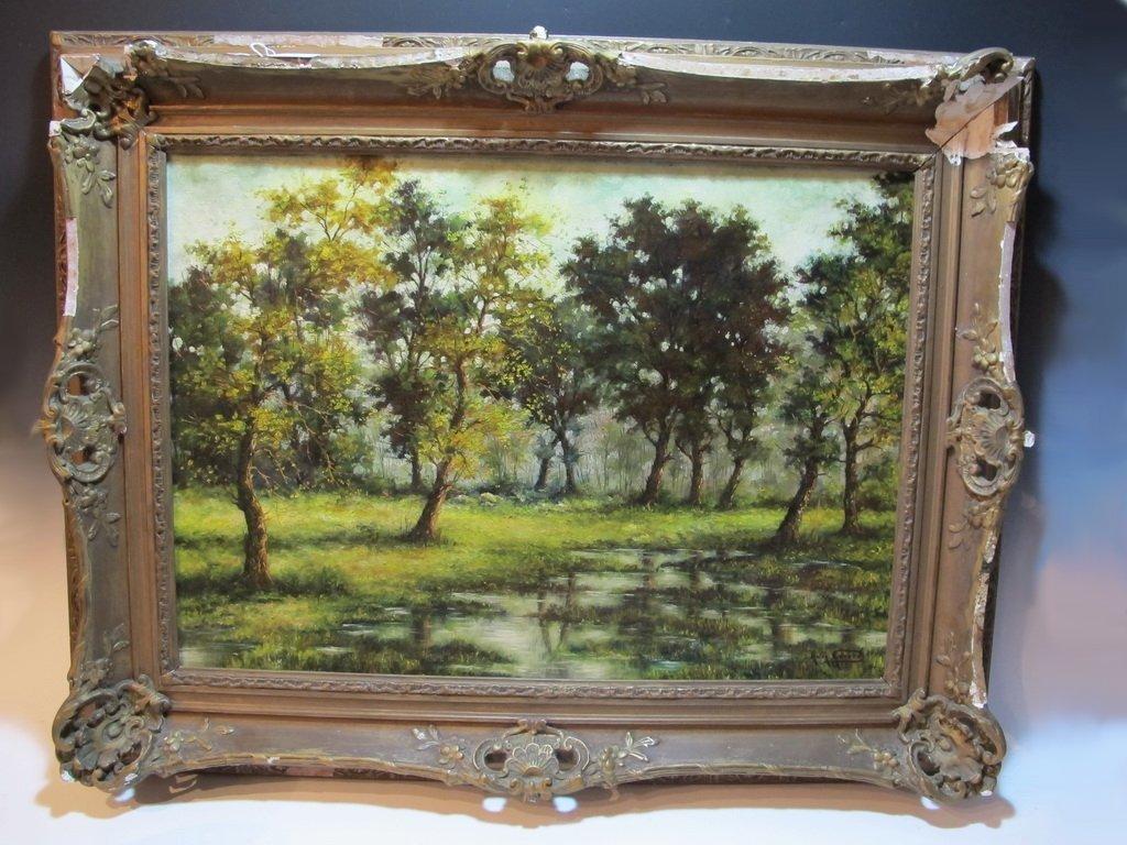 American artist oil on canvas, A. GERARD