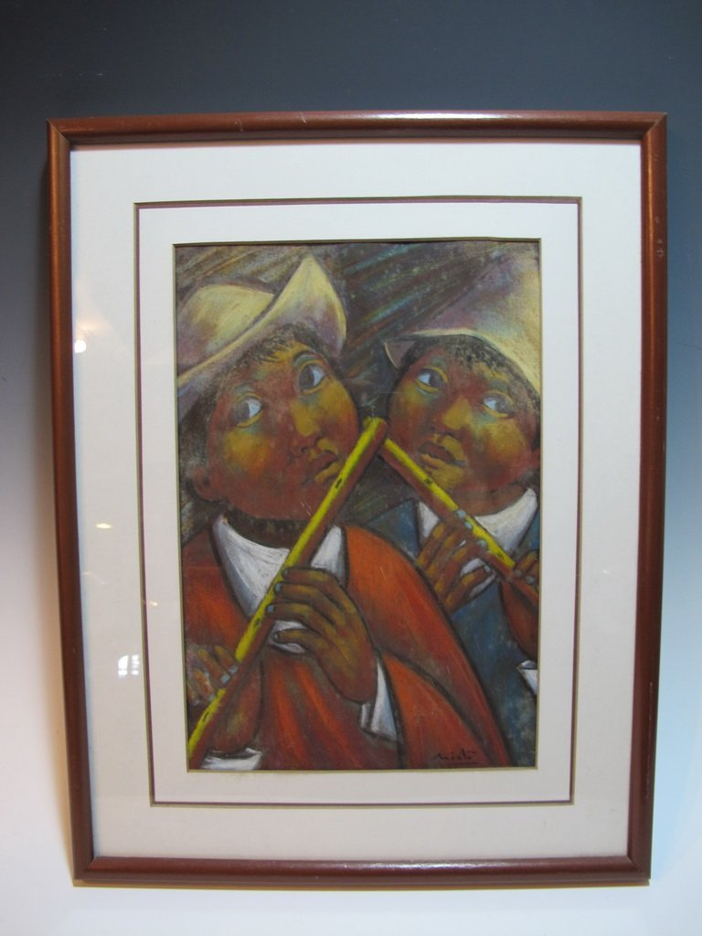 Arturo NIETO (XX) Ecuadorian artist pastel painting