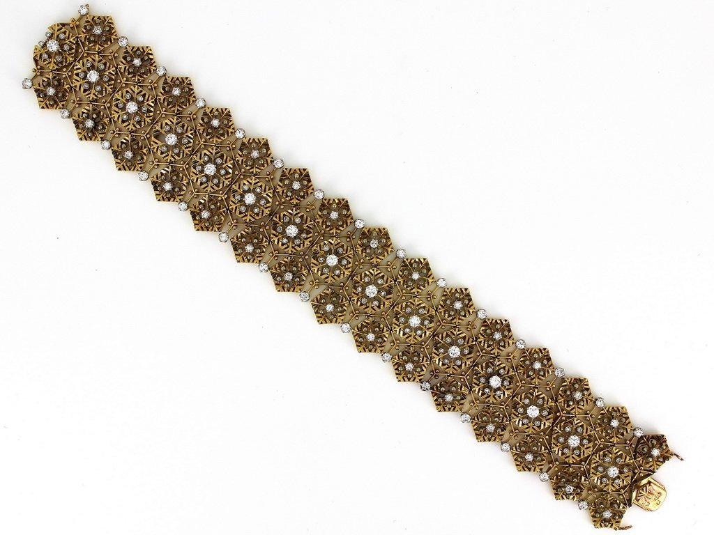 18 Kt gold & diamonds Van Cleef & Arpels bracelet
