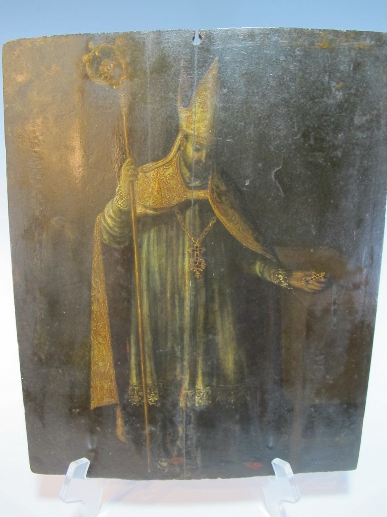18th/19th C Religious painting on wood