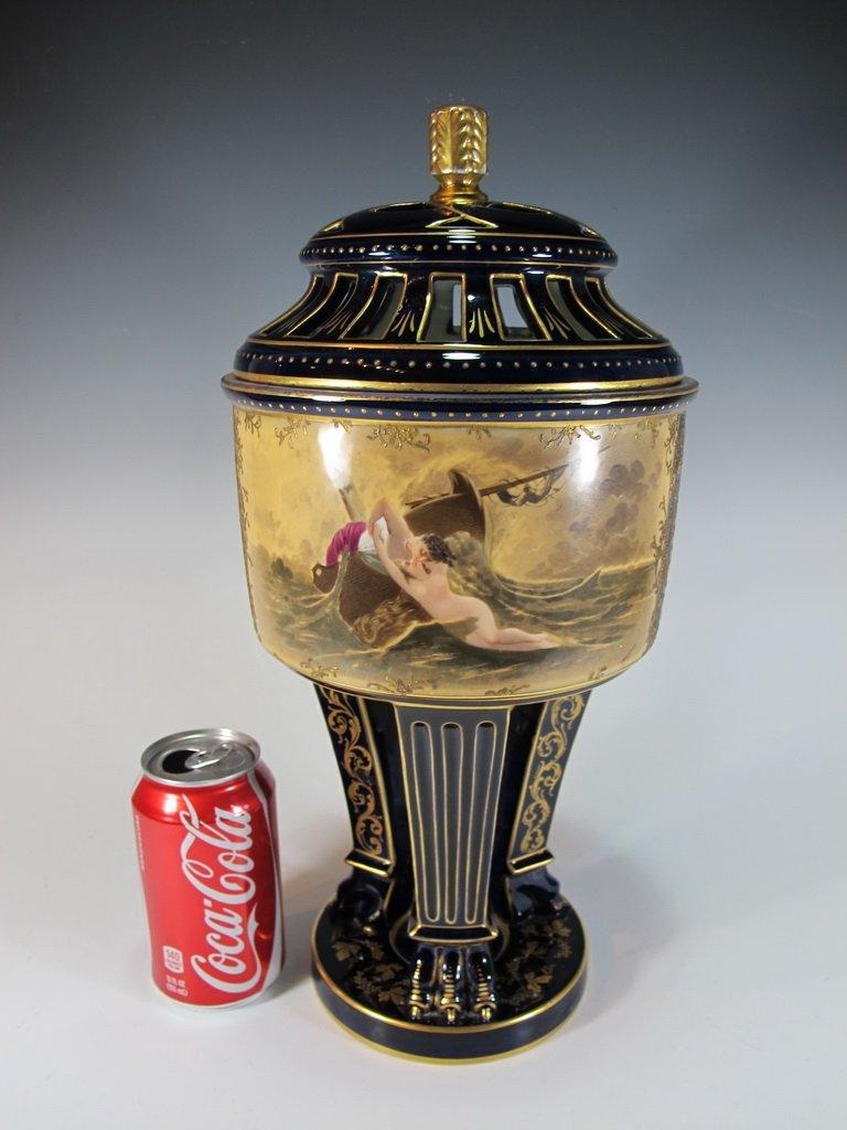 Probably Vienna antique porcelain urn