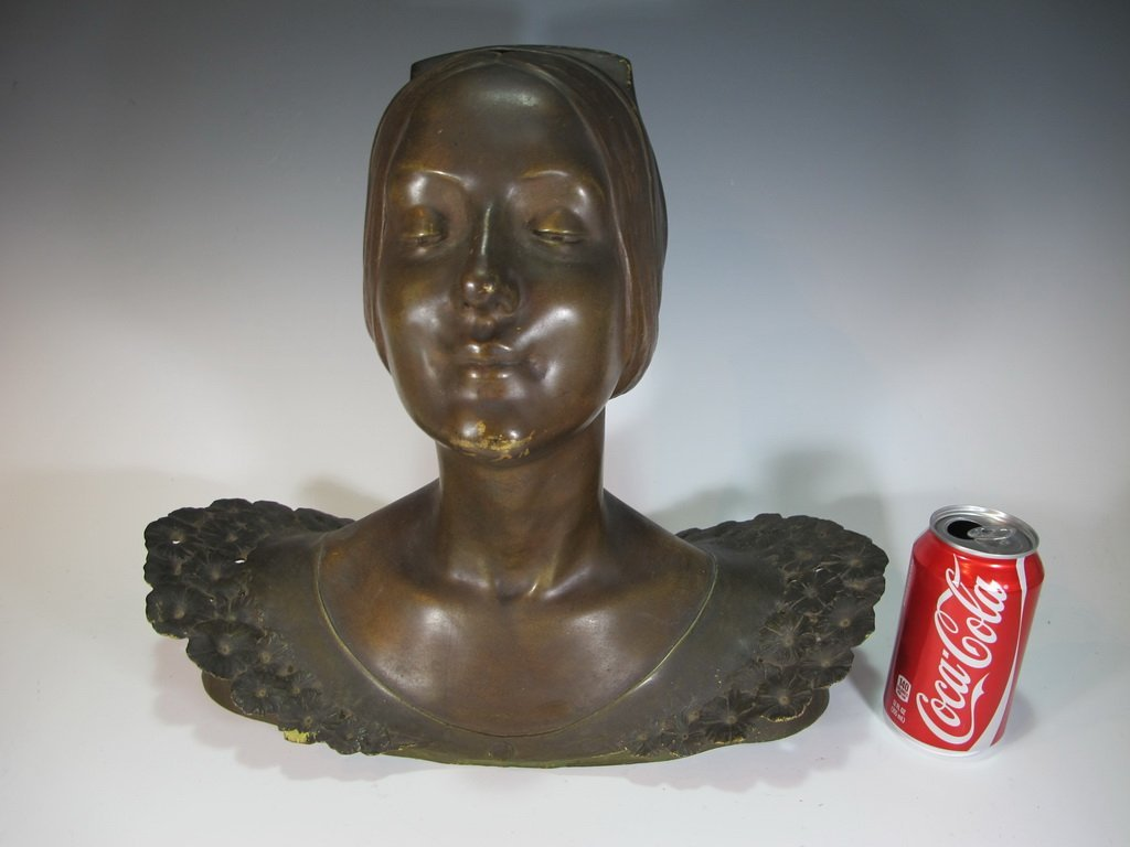 Louis CHALON (1866-1940) bronze bust