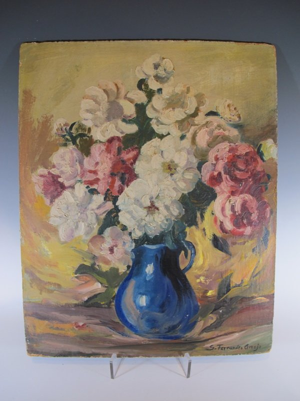 Silvia Fernandez Arrojo, Cuban artist painting