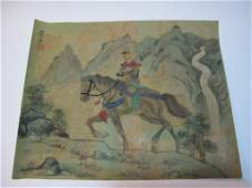 Vintage Chinese watercolor & ink painting, signed