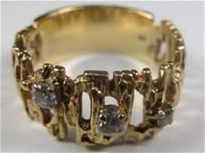 14 kt gold & diamonds ring