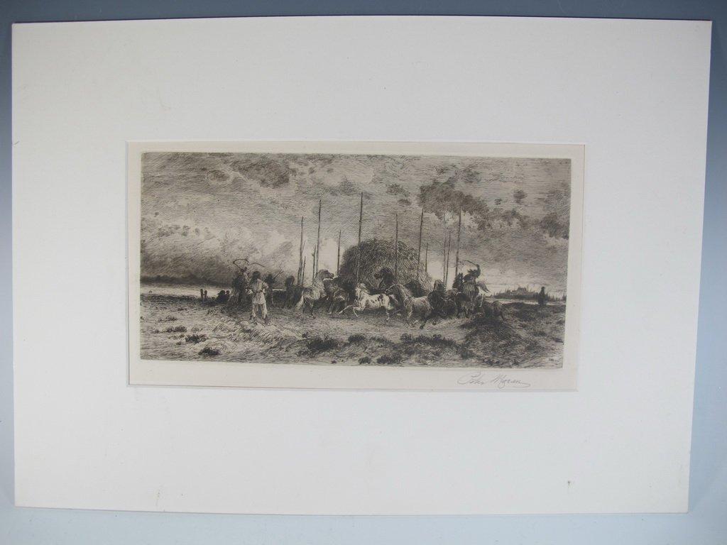 Peter MORAN (1841-1914) American artist engraving