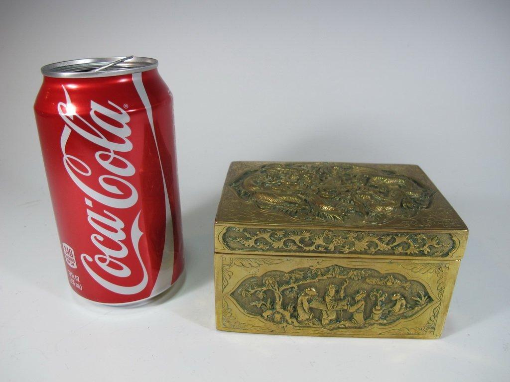 Antique Chinese Opium bronze box
