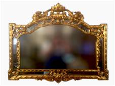 Amazing French Carved Gilt Wood Frame Mirror