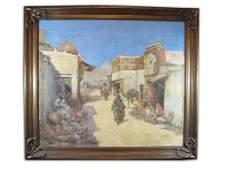 J. Navarro, spanish artist Orientalist oil on canvas