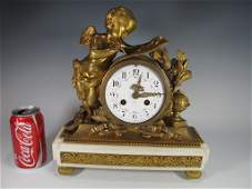 French Vincent, Paris to Tiffany & Co bronze clock