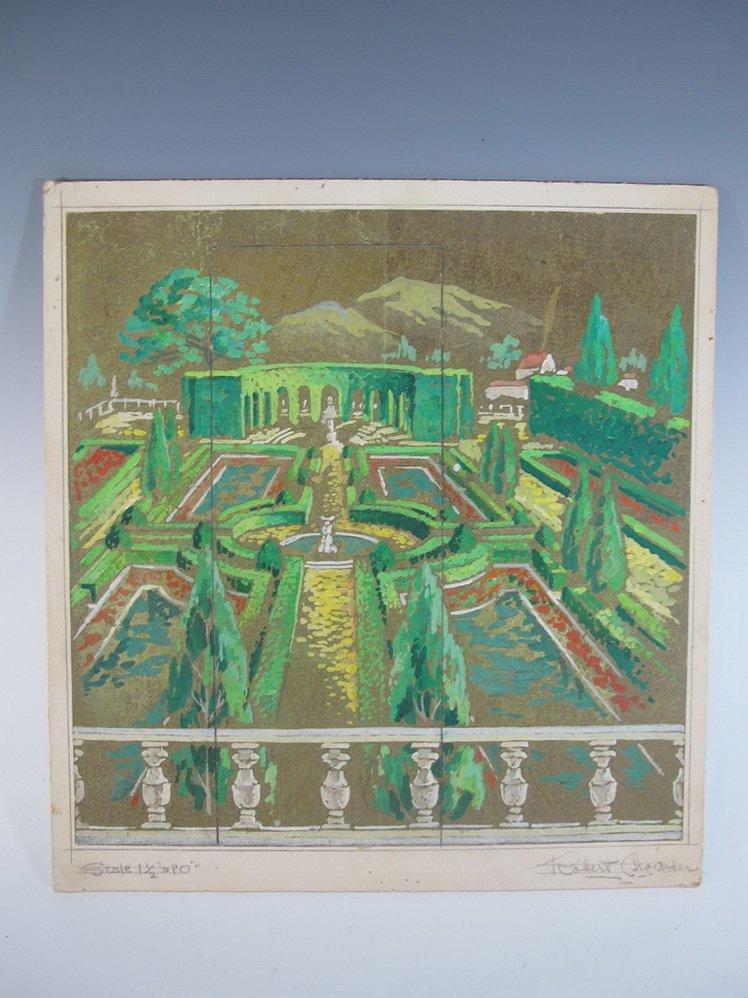 Robert CROWDER (1911-2010) American artist watercolor
