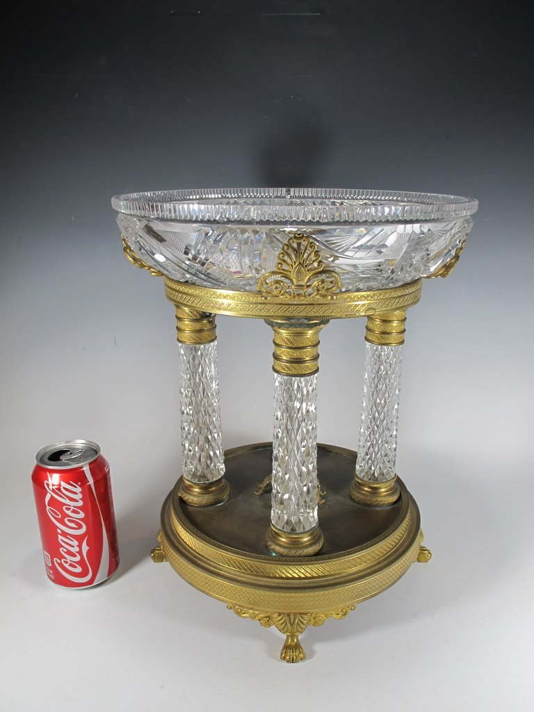Probably Baccarat crystal & high quality bronze