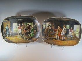 Pair Of English Royal Albert Porcelain Trays Marked