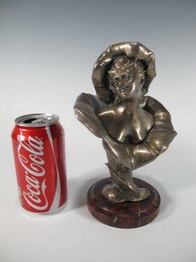 Henri Godet (1863-1937) Silverplated Bronze Bust