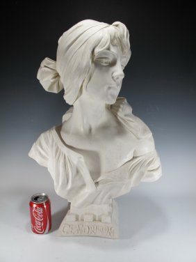 Cendrillon From Villanis Molded Alabaster Bust