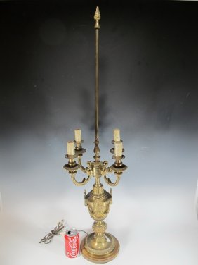 Antique French Bronze Table Lamp