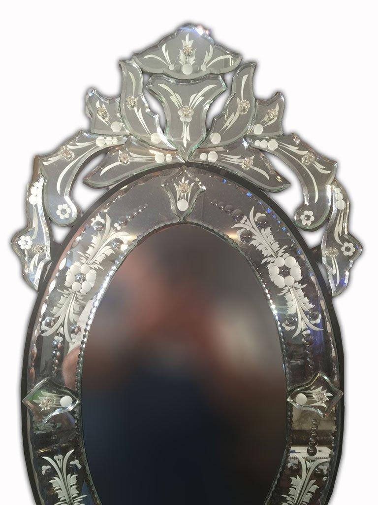 Beautiful Pair of Modern Venetian Oval Mirror - 2