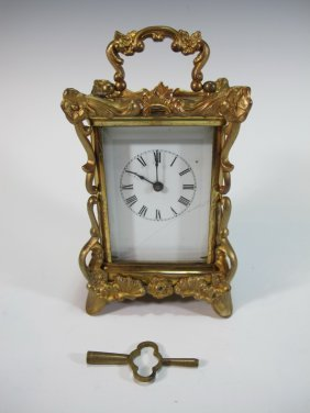 Late 19th C American Waterbury Alarm Clock