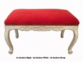 Antique French Louis Xv Style Patinated & Red