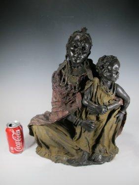 Marianne Houtkampe (1948-) Bronze Statue