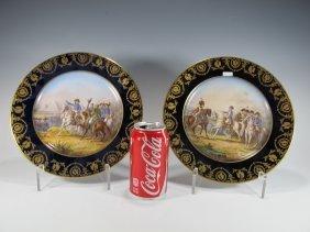 Pair Of Antique Limoges Napoleon Porcelain Plates