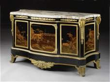 19th C. Louis XVI style Japanese lacquer commode, circa