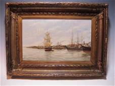 19th C French school oil on wood painting, circa 1890