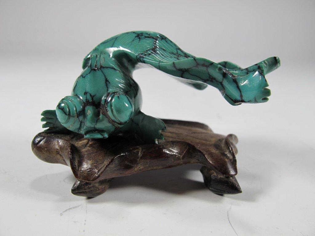 Antique Chinese Malachite fish sculpture