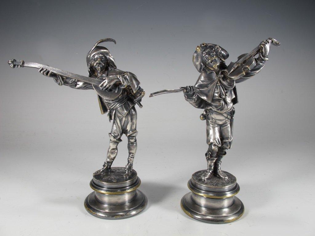 Emile GUILLEMIN (1841-1907) pair of bronze statues