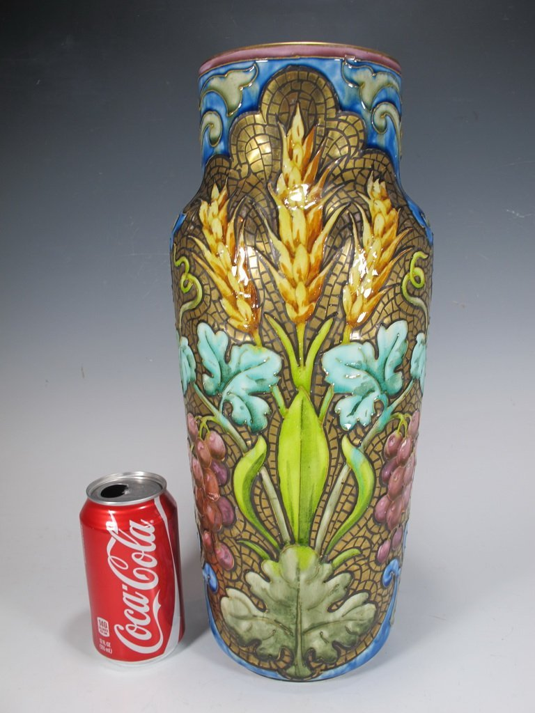 Antique European majolica vase