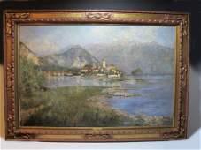 Antique European painting, signed VURIONI, 1900