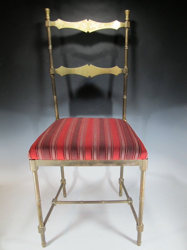 Vintage French country bronze chair