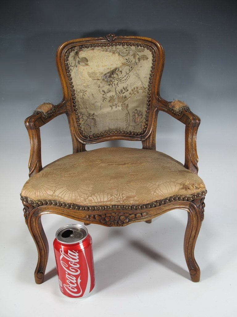 Vintage French Louis XV style miniature chair