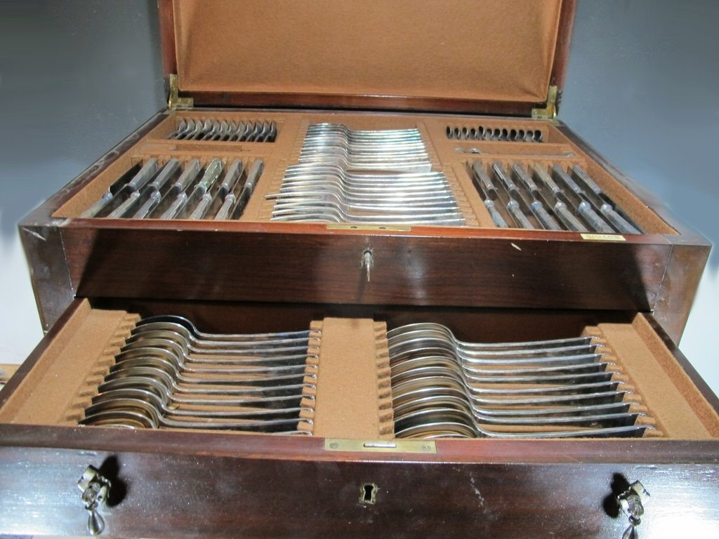 Antique English Mappin & Webb flatware set of 103 pcs - 5