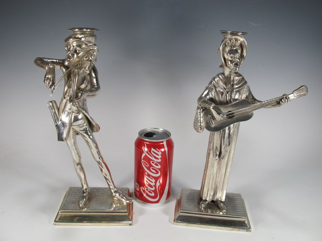 Reed & Barton Bruno Zach model pair of silverplated