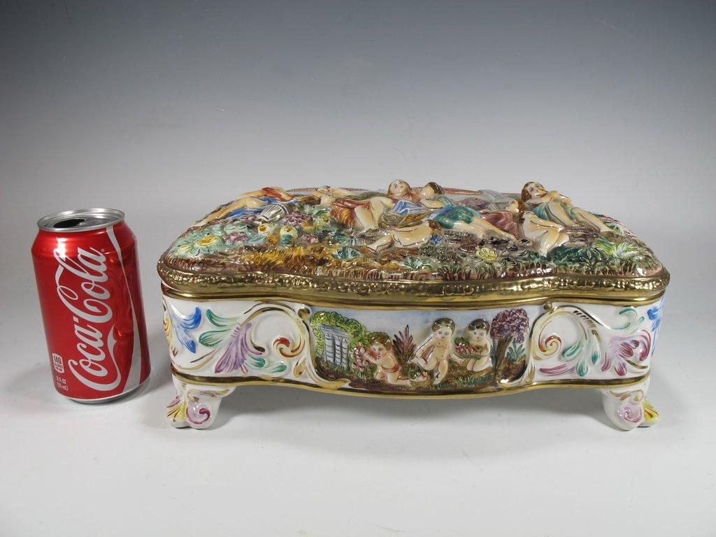 Italian Capodimonti porcelain box