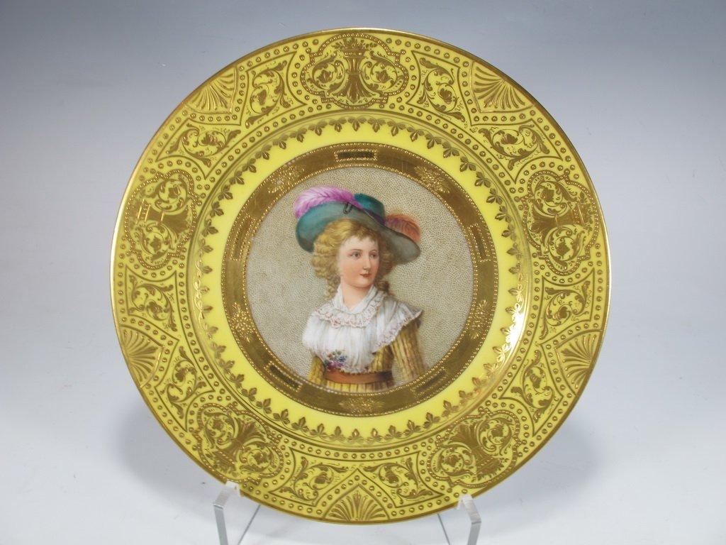 Antique German Dresden porcelain plate, signed