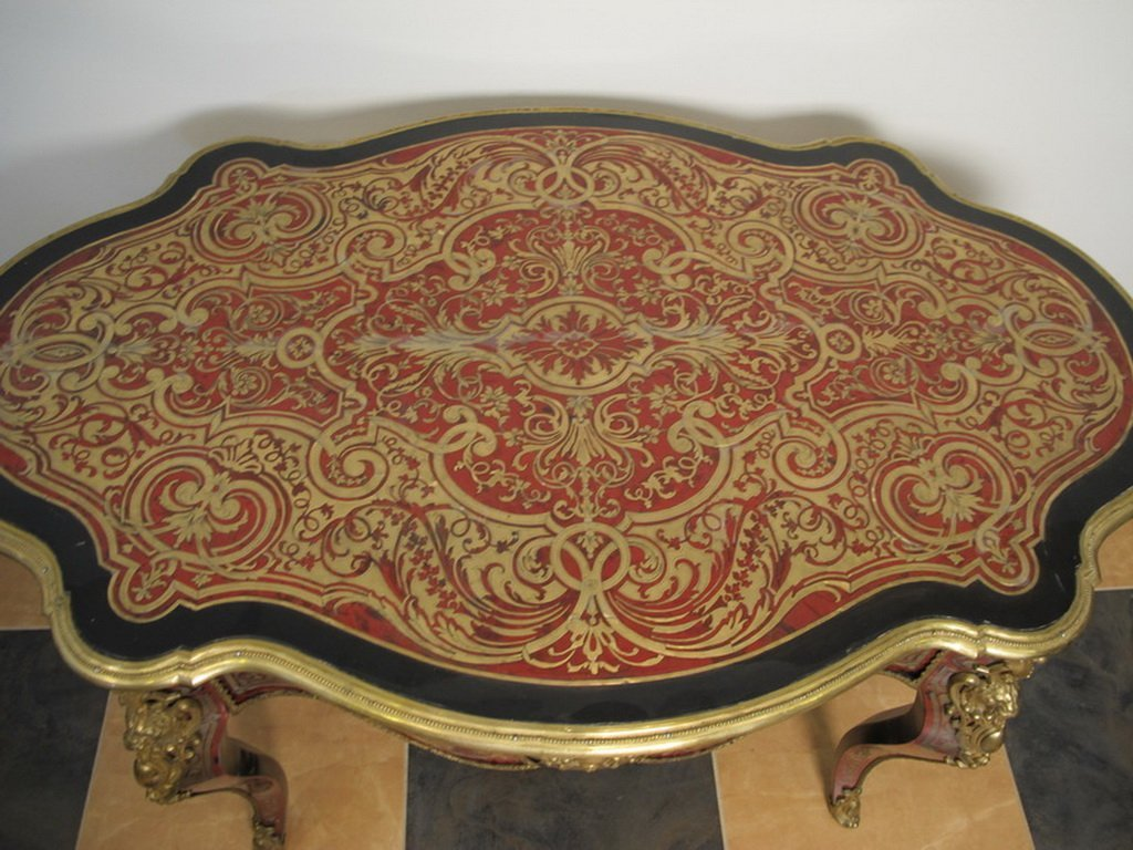 Antique French Boulle table - 2