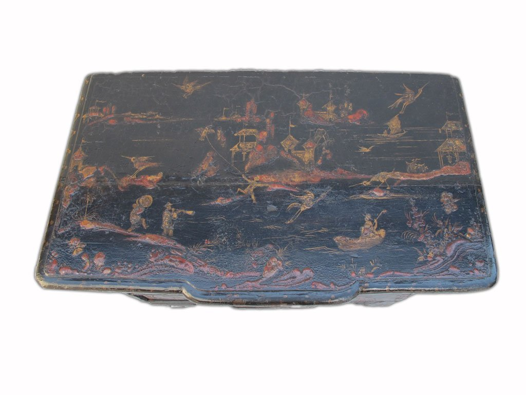 19th C Chinese painted chest of drawers - 3
