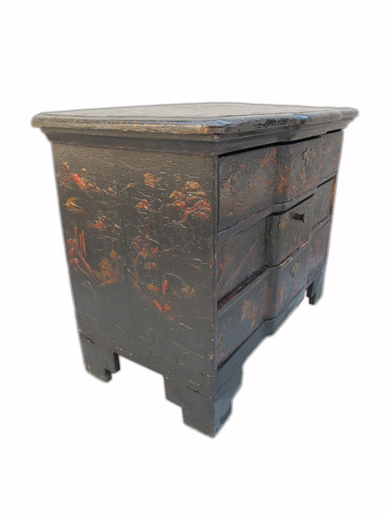 19th C Chinese painted chest of drawers - 5
